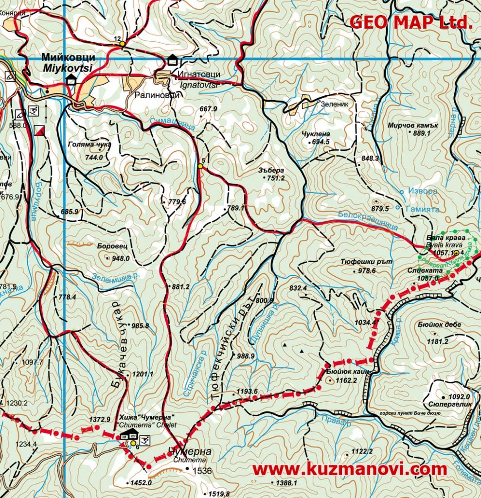 Карта на екопътеките